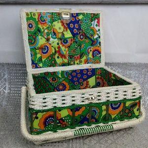 Vintage Sears Best Wicker Sewing Basket